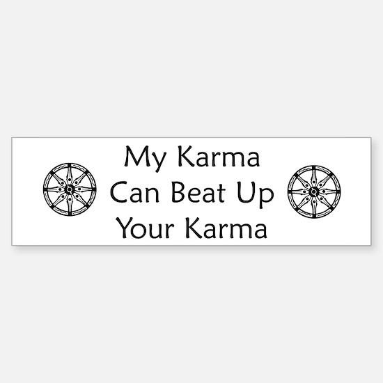 Karma Beat Down Sticker (Bumper)