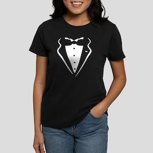 Tuxedo Shirt Women's Dark T-Shirt