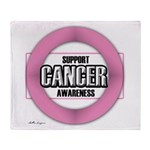 Cancer Awareness Throw Blanket