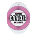 Cancer Awareness Ornament (Oval)
