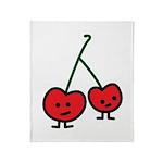Happy Cherry Throw Blanket