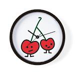 Happy Cherry Wall Clock