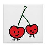 Happy Cherry Tile Coaster