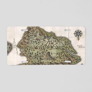 Vintage Map of Bali Indones Aluminum License Plate