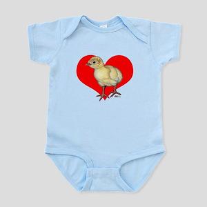 Turkey Poult Heart Infant Bodysuit