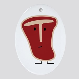 T-bone Steak Ornament (Oval)