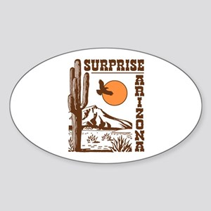 Surprise Arizona Sticker (Oval)