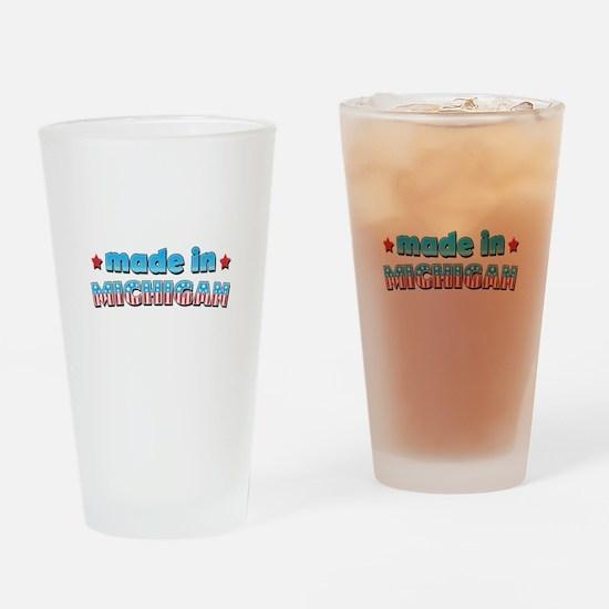 Made in Michigan Drinking Glass