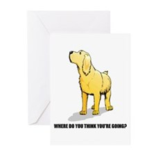 Rude Labrador Retriever Greeting Cards (Package of