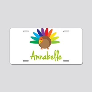 Annabelle the Turkey Aluminum License Plate