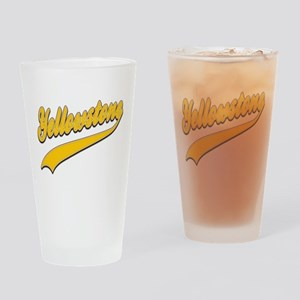 Yellowstone Tackle and Twill Drinking Glass