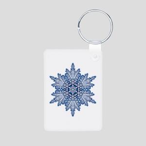 Snowflake 11 Aluminum Photo Keychain