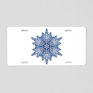 Snowflake 11 Aluminum License Plate