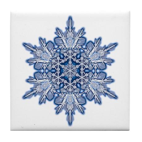 Snowflake 11 Tile Coaster