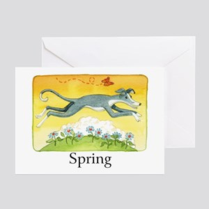 """""""SPRING"""" (with copy) Greeting Cards (Pk of 10)"""