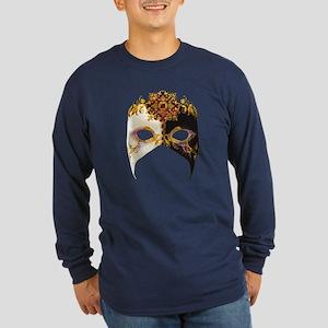 Venetian Mask: Ruby Jewel Long Sleeve Dark T-Shirt