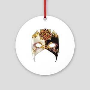 Venetian Mask: Ruby Jewel Ornament (Round)