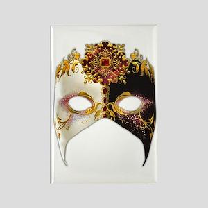 Venetian Mask: Ruby Jewel Rectangle Magnet