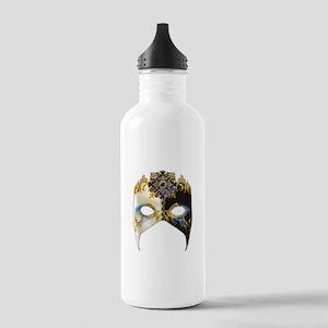 Venetian Mask: Sapphire Jewel Stainless Water Bott
