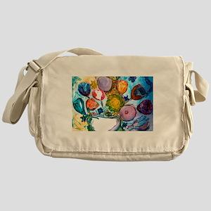 Bright Bouquet Messenger Bag