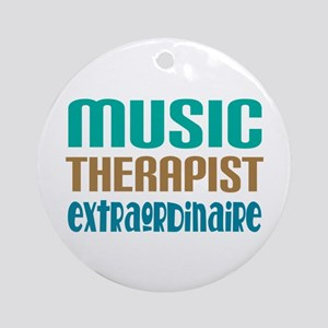 Music Therapist Extraordinaire Ornament (Round)
