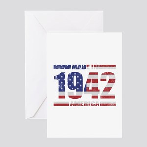 1942 Made In America Greeting Card