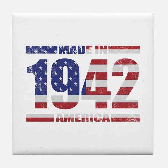 1942 Made In America Tile Coaster