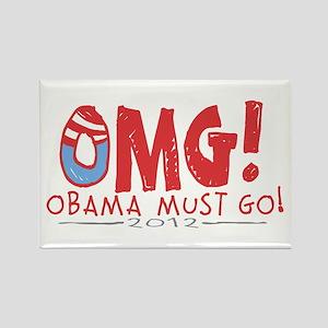 OMG! Anti-Obama Rectangle Magnet