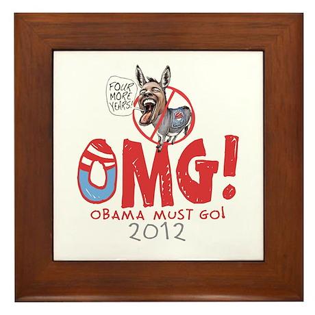 OMG! Anti-Obama Framed Tile