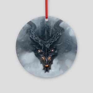 Evil Dragon Round Ornament
