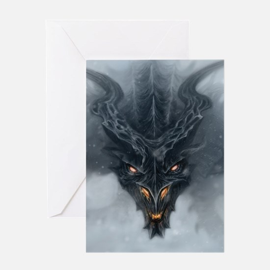 Evil Dragon Greeting Cards