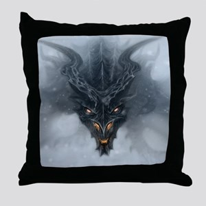 Evil Dragon Throw Pillow