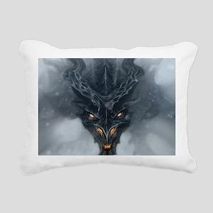 Evil Dragon Rectangular Canvas Pillow