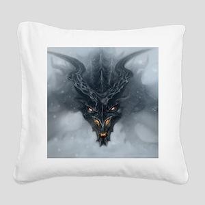 Evil Dragon Square Canvas Pillow