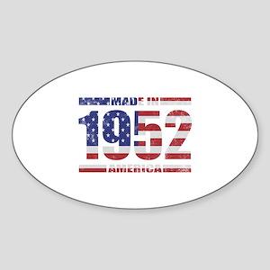 1952 Made In America Sticker (Oval)