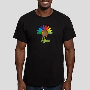 Aline the Turkey Men's Fitted T-Shirt (dark)