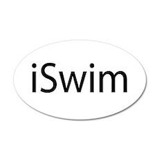 iSwim (Swimmer) 22x14 Oval Wall Peel
