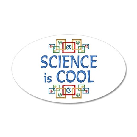 Science is Cool 22x14 Oval Wall Peel