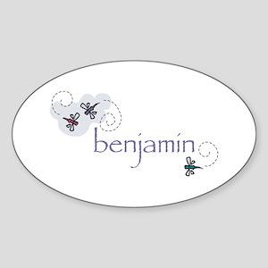 Benjamin Oval Sticker