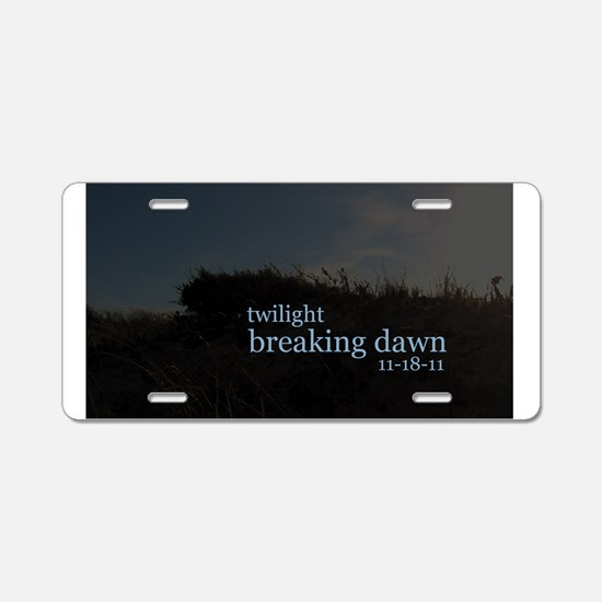 Twilight Breaking Dawn Beach Aluminum License Plat