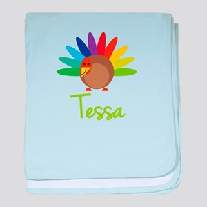 Tessa the Turkey baby blanket