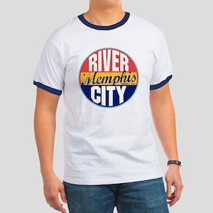 Memphis Vintage Label Ringer T