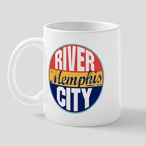 Memphis Vintage Label Mug