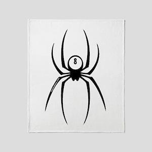 8ball Spider Throw Blanket