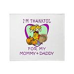 Thanksgiving Kids Throw Blanket