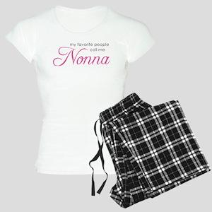 Favorite People Call Me Nonna Women's Light Pajama