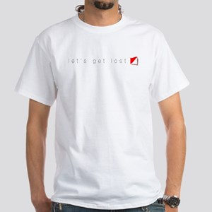 Let's Get Lost White T-Shirt