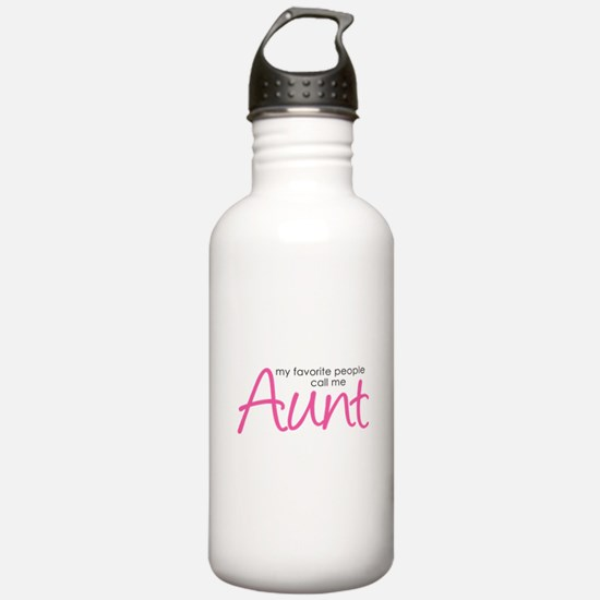 Favorite People Call Me Aunt Water Bottle