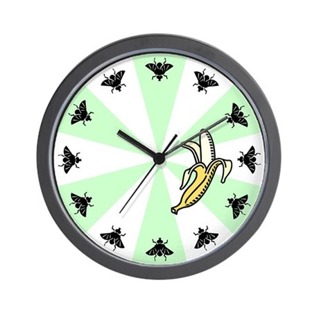 Fruit Flies Like A Banana Wall Clock
