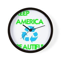 KEEP AMERICA BEAUTIFUL Wall Clock